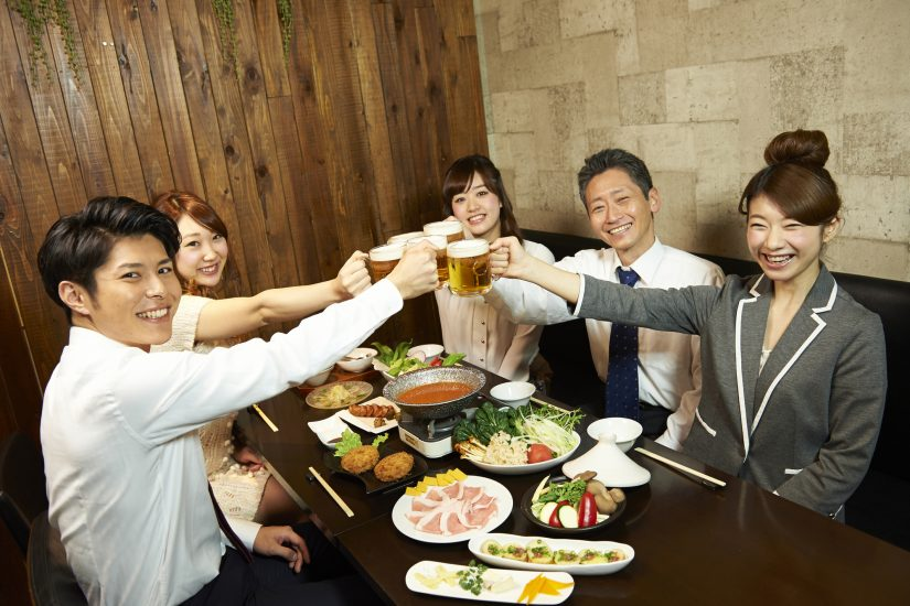 After-work drinking parties with their colleagues