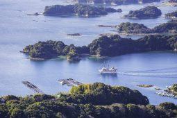 Tourist boat going around the beautiful island of Nagasaki