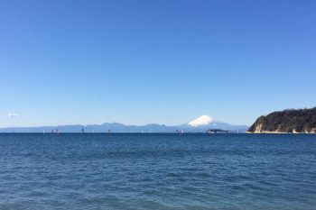 Mount Fuji with ocean view photo
