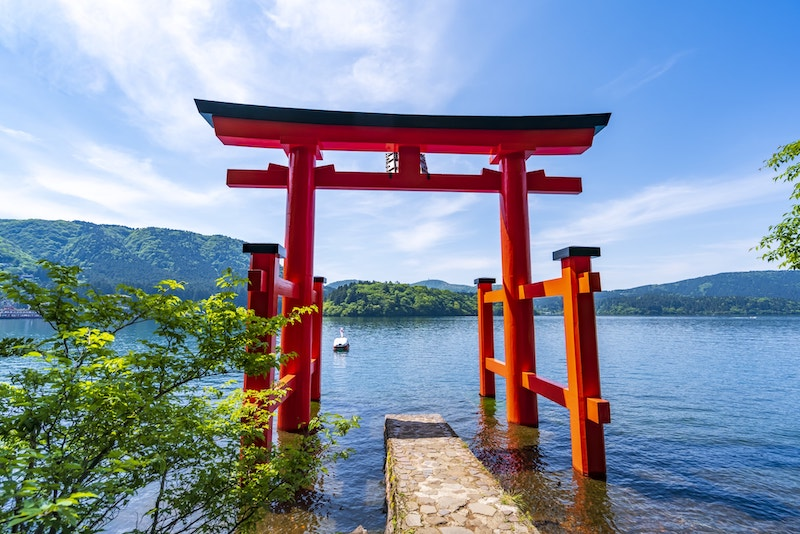 hakone torii gate photo