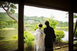 Traditional Japanese wedding photo