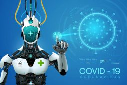 Japanese robot during covid