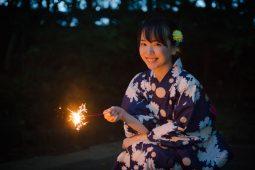 Japanese girl in yukata